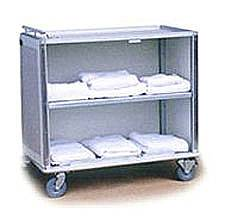 Enclosed Aluminum Linen Cart w/ Locking Doors