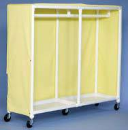 X-Large PVC Clothing Cart