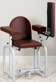 Extra-Tall Fully Padded Phlebotomy Chair Flip Arm