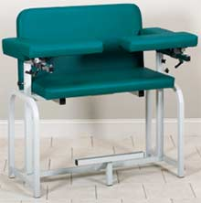 Extra-Tall & Wide Phlebotomy Chair w/ Flip-Arms