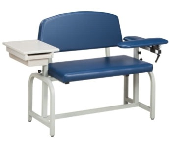 Extra-Wide, Blood Chair w/ Padded Flip Arm and Drawer