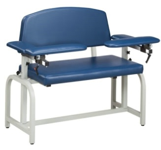 Extra-Wide Blood Drawing Chair Padded Arms