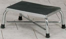 Extra-Wide Chrome Bariatric Step Stool