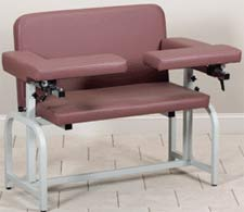 Extra-Wide Phlebotomy Chair w/ Flip-Arms