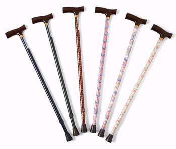 Fashion Cane With  Maple Handle Assorted Colors
