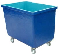 Fiberglass Linen Transport Basket Cart