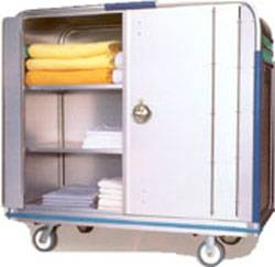 Fiberglass Security Cart w/ Bi-Fold Lockable Doors