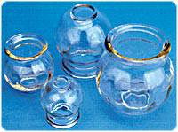 Fire Cup Glass Jars Set of Three