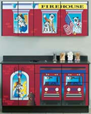 Firehouse Themed Pediatric Cabinet Set