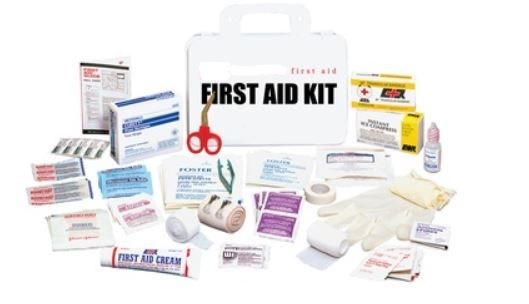 First Aid Kit, 10 Person, Metal Storage Box