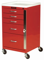 5 Drawer Mini Line Emergency Cart Standard Package