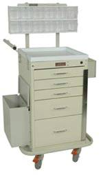 Five Drawer Mini Phlebotomy Cart Package