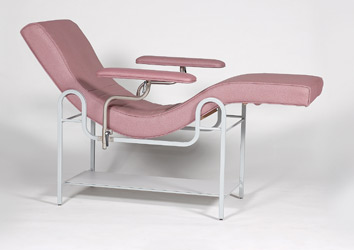 Fixed Steel Frame Treatment Lounge Chair