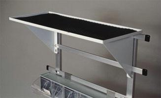Flat Rail Mounted Shelf for Steel Cart