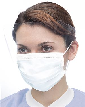 Fog-free single seal archaway mask w/ visor