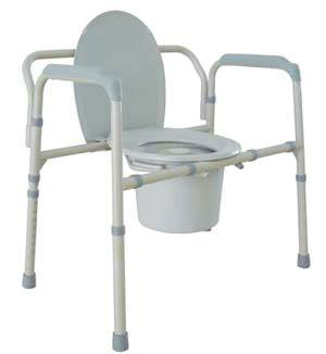 Foldable Bariatric Bedside Commode