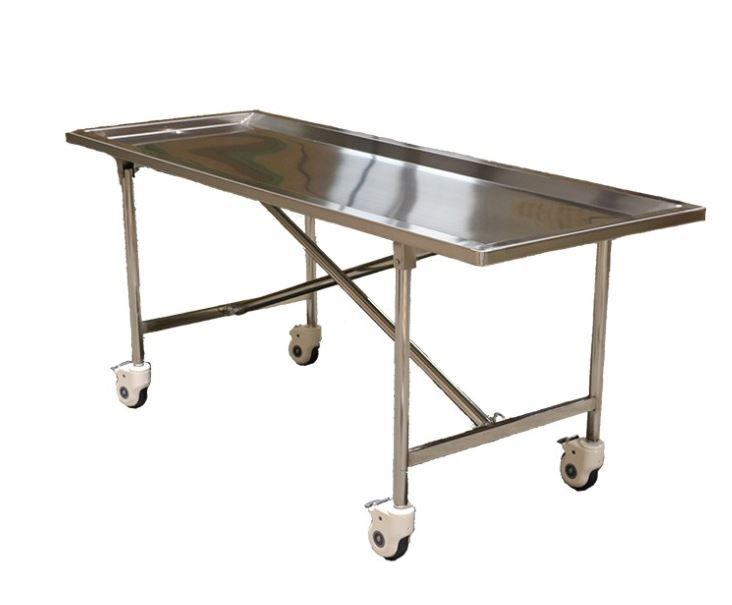Folding Embalming Table 600 Load Capacity