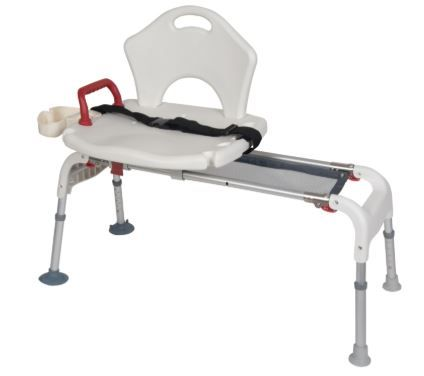 Folding, Shower Transfer Bench, 300 lb Capacity