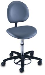 Foot Operated Surgeon Stool w/ Backrest