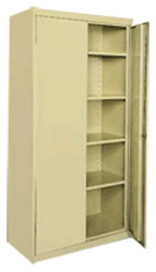 Free Standing Classic Storage Cabinet w/ Adjustable Shelves