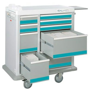 Full Sized Medication Punch Card Cart, 400 Cards