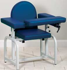 Fully Padded Phlebotomy Chair w/ Flip Arm