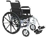 Lightweight Wheelchair w/ Swingback Arms