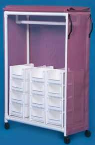 PVC Clothing Cart w/ 24 Bins