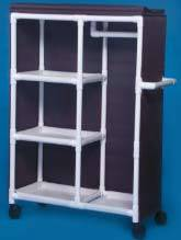 PVC Clothing Cart w/ Shelves & Hanging Bar