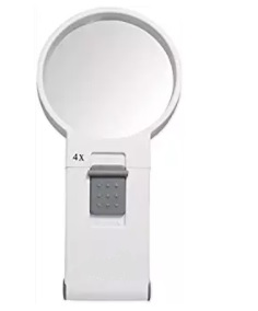 LED Handheld Magnifier 4X