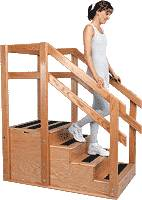 Hardwood Training Stairs - Closed End