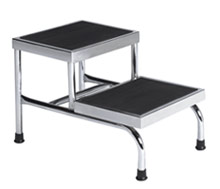 Heavy-Duty 2-Step Chrome Plated Step Stool