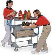 Heavy Duty 3 Shelf Ergonomic Cart