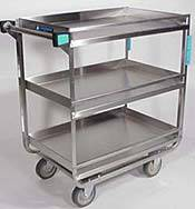 Heavy Duty 3 Shelf Guard Rail Cart
