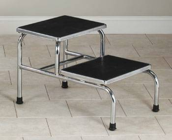 Heavy Duty, Two Step Chrome Plated Step Stool
