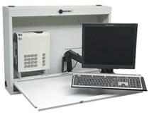 Heavy-Gauge Steel Wall Desk w/ Articulating Arm