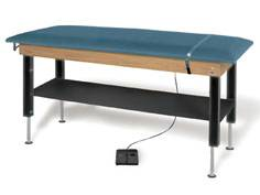 Hi-Lo Power Plinth Treatment Table w/ Shelf