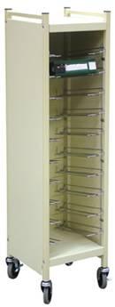 Horizontal Cabinet Chart Rack, 10 Binder Capacity