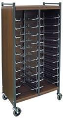 Horizontal Cabinet Chart Rack, 20 Binder Capacity