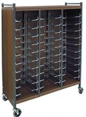 Horizontal Cabinet Chart Rack, 30 Binder Capacity
