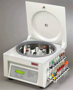 Horizontal Spin Centrifuge with Holder Rack
