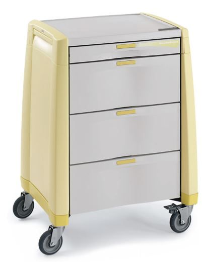 Hospital Isolation Keyless Cart