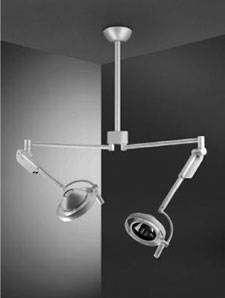 Isis Double Ceiling Mount Minor Surgery Light