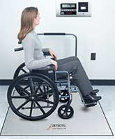 In-Floor Platform Wheelchair Scale Handrail 72 48in