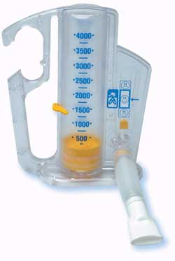 Incentive Spirometer 2,500ml Capacity & One-Way Valve