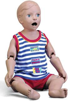 Dual Sex One Year Old Infant Patient Care Manikin