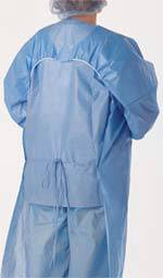 Polyethylene-Coated Polypropylene Isolation Gown
