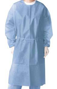 Impervious Polyethylene-Coated Polypropylene Isolation Gown