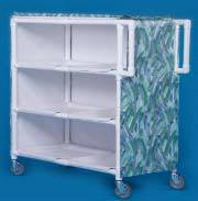 PVC Jumbo Linen Cart w/ 3 Shelves