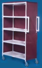 PVC Jumbo Linen Cart w/ Four Shelves